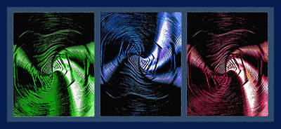 Negative Space Triptych Art Print by Steve Ohlsen
