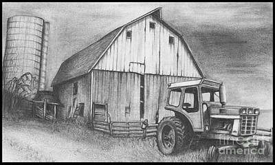 Red Barns Drawing - Neglected Barn by Jimmy Wood