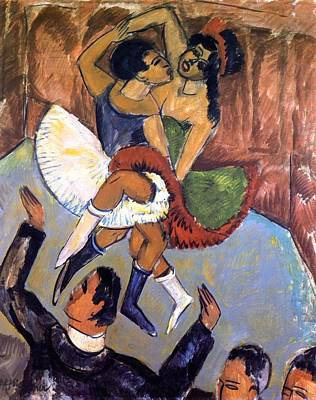 Negro Painting - Negro Dance by Ernst Ludwig Kirchner