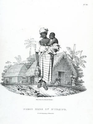 Slaves Photograph - Negro Mode Of Nursing by British Library
