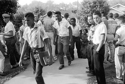 Racism Photograph - Negroes Going To School by Underwood Archives