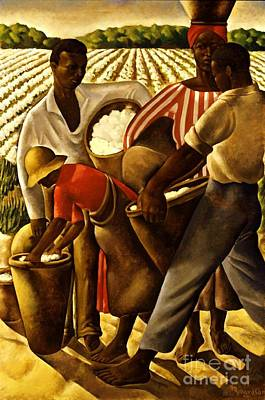 Cotton Fields Painting - Negro's Agriculture by Pg Reproductions