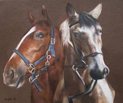 Painting - Neigh-bours by Cherise Foster