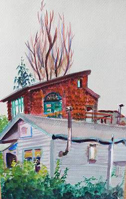 Painting - Neighbor Houses In Berkeley by Asha Carolyn Young