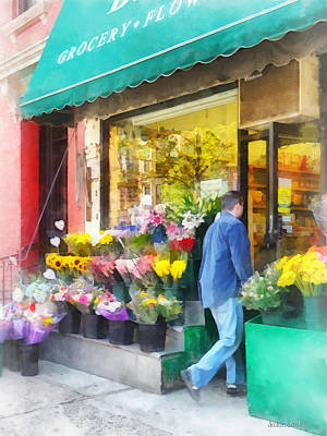 Photograph - Neighborhood Flower Shop by Susan Savad