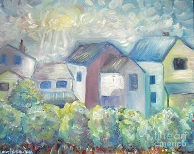 Painting - Neighborhood In Light by M C Sturman