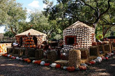 Digital Art - Neighborhood Of Pumpkin Houses by Carrie OBrien Sibley