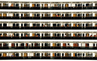 Balconies Photograph - Neighbors Across The Way Cruise Ship by Amy Cicconi