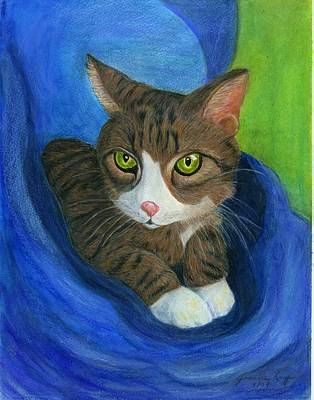 Painting - Neighbor's Cat In Stroller by Jeanne Kay Juhos