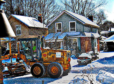 Photograph - Neighbourhood Snowplough 2 by Nina Silver