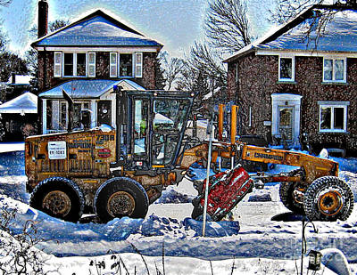 Neighbourhood Snowplough Art Print