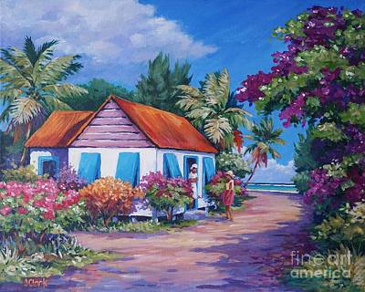Caribbean Sea Painting - Neighbourly Chat by John Clark
