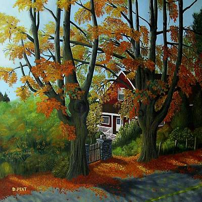 Newton Painting - Neighbours L by Denise Peat
