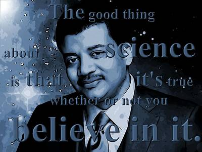 Planets Digital Art - Neil Degrasse Tyson by Dan Sproul