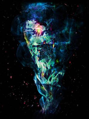 Neil Degrasse Tyson Digital Art - Neil Degrasse Tyson by D Walton