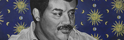 Universe Painting - Neil Degrasse Tyson by Simon Kregar