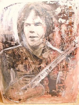 Alfredo Llana Painting - Neil Young by Alfredo Llana