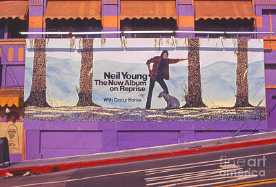 Neil Young Photograph - Neil Young Billboard by Frank Bez