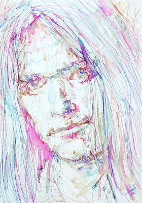 Neil Young Painting - Neil Young - Colored Pens Portrait by Fabrizio Cassetta