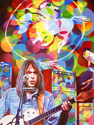 Neil Young Painting - Neil Young-crazy Horse by Joshua Morton