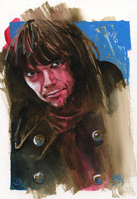 Neil Young Painting - Neil Young by Ken Meyer