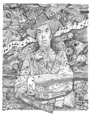 Neil Young Drawing - Neil Young Lives Music by Lance Graves