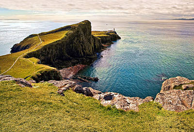 Highlands Photograph - Neist Point Lighthouse by Marcia Colelli