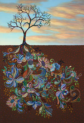 Tree Roots Painting - Neither Praise Nor Disgrace by James W Johnson