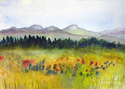 Remodernist Painting - Nek Mountains And Meadows by Donna Walsh