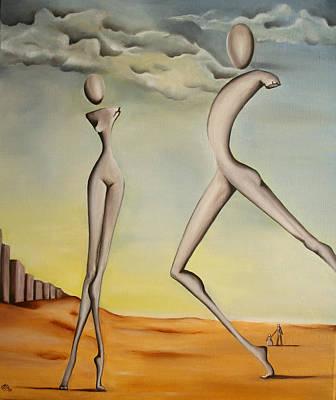 Nella Terra Dei Giganti 2011 Art Print by Simona  Mereu