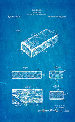 Photograph - Nelson Eskimo Pie Patent Art 1922 Blueprint by Ian Monk