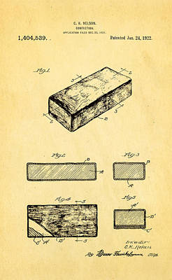 Photograph - Nelson Eskimo Pie Patent Art 1922 by Ian Monk