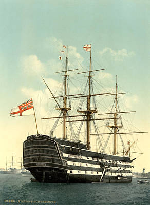 Hms Victory Painting - Nelson Hms Victory by Granger
