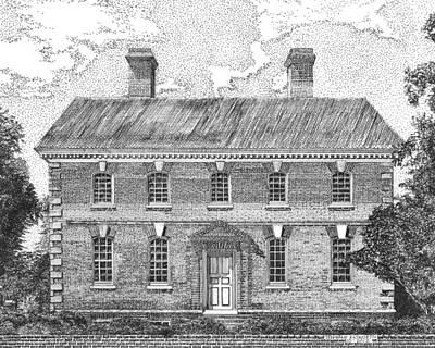 Nelson House In Yorktown Virginia II Of IIi Art Print by Stephany Elsworth