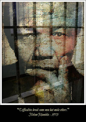 Nelson Mandela - Difficulties Art Print by Lynda Payton