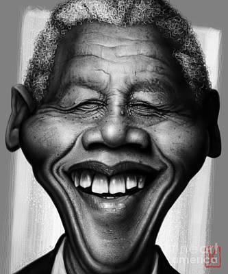 Mandela Drawing - Nelson Mandela by Andre Koekemoer