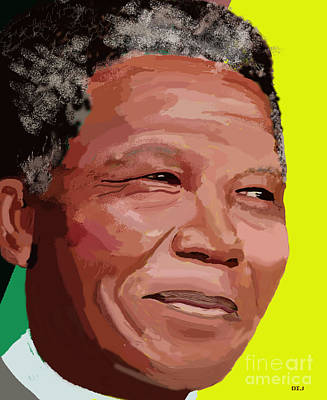 Digital Art - Nelson Mandela by David Jackson