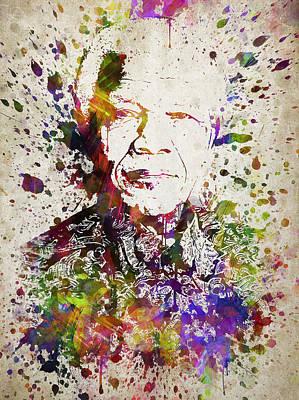 Nelson Mandela Digital Art - Nelson Mandela In Color by Aged Pixel