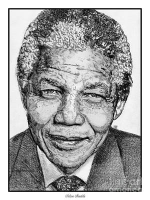 Drawing - Nelson Mandela by J McCombie