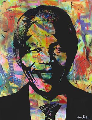 Nelson Mandela Art Print by Jean P Losier
