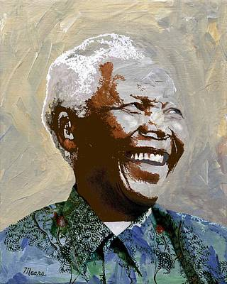 Politician Painting - Nelson Mandela by Linda Mears