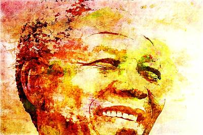 Painting - Nelson Mandela by Michael Grubb
