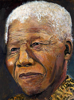 Painting - Nelson Mandela by Patricia Trudeau