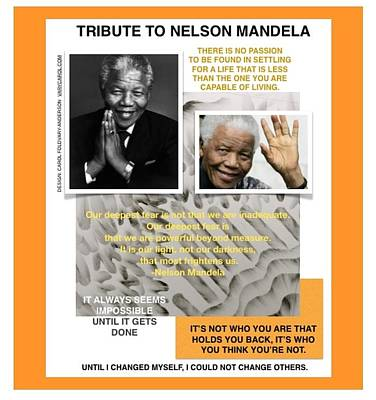 Wall Art - Photograph - Nelson Mandela Photo/quote by Carol Foldvary-Anderson