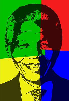 Nelson Mandela Pop Art Art Print by Dan Sproul