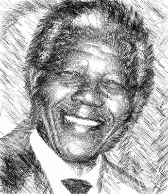 Digital Art - Nelson Mandela by Rafael Salazar