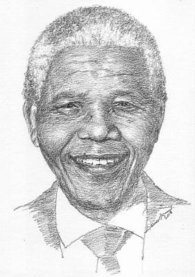 Nelson Mandela Print by Salman Ameer
