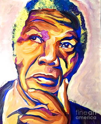 Nelson Mandela Thoughts Art Print by LLaura Burge