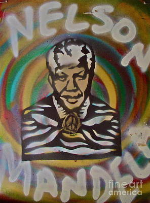 Tea Party Painting - Nelson Mandela by Tony B Conscious
