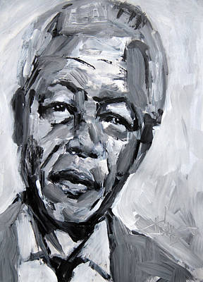 Painting - Nelson Mandela Tribute Painting by Jim Vance